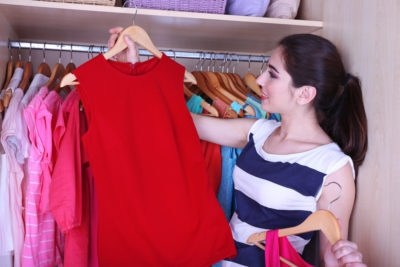 a great way to keep clean is to organize your clothes closet
