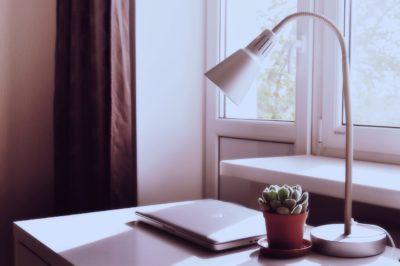 desk lamp and laptop, Kelly's Kleaning has some tips to help clean you lights. Kelly's Kleaning provides residential cleaning throughout Berks County and Lancaster County.